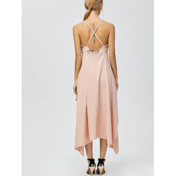 Sequin Nude Handkerchief Cami Midi Night Out Dress - LIGHT APRICOT PINK LIGHT APRICOT PINK