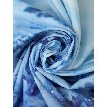 Rectangle Wave Print Beach Throw - BLUE ONE SIZE