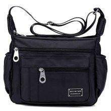 Concise Zippers and Nylon Design Women's Shoulder Bag