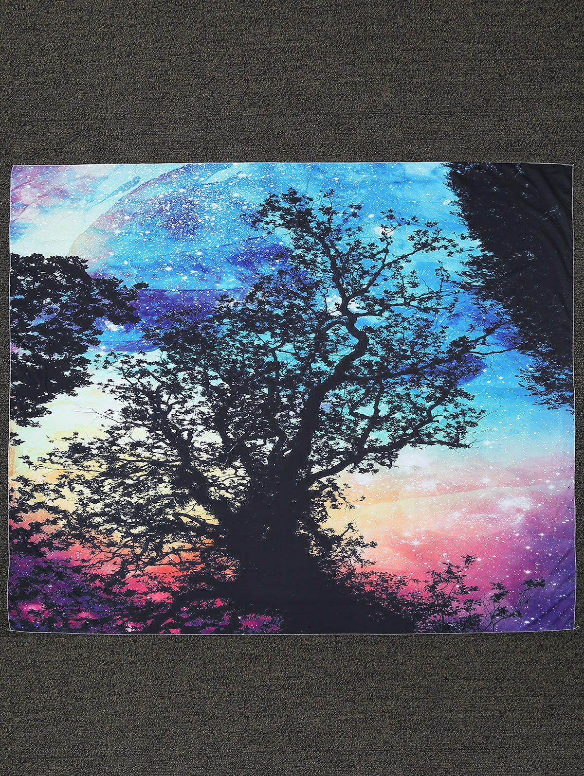 Rectangle Tree Print Beach Throw - BLACK ONE SIZE