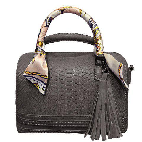 Ladylike Tassels and Scarves Design Women's Tote Bag - GRAY
