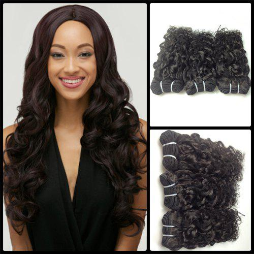 3 Piece / Vague Lot 8A Virgin Indian Natural Hair Weave - Noir 20INCH*20INCH*22INCH