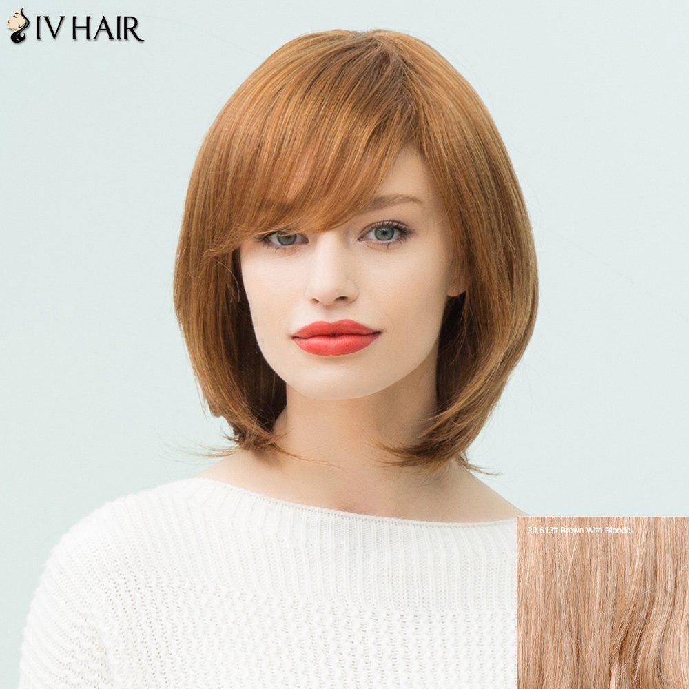 Siv Hair Medium Side Bang Bob Layered Straight Human Hair Wig от Dresslily.com INT