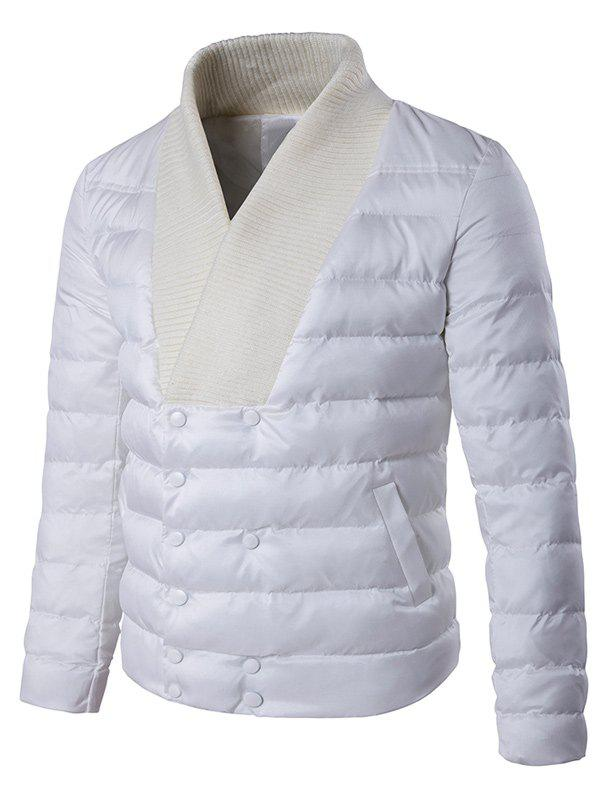 Knitted Collar Double Breasted Padded Jacket от Dresslily.com INT