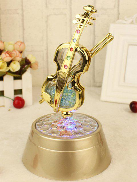 Rotating Violin Music Box Wedding Party Decor - GOLDEN