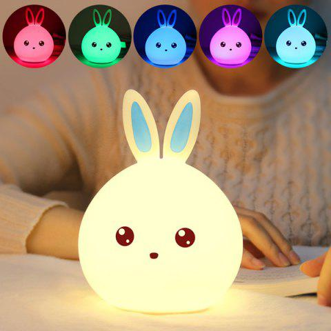 Colorful Rabbit LED Touch Table Night Light - WHITE