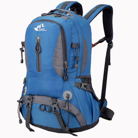 Waterproof Nylon 40L Mountaineering Backpack - ROYAL BLUE