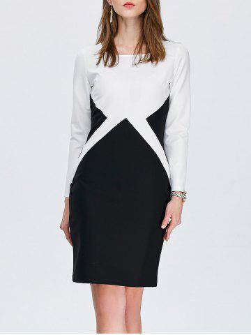 885cf255da401 2019 Two Tone Pencil Dress For Work Online Store. Best Two Tone ...