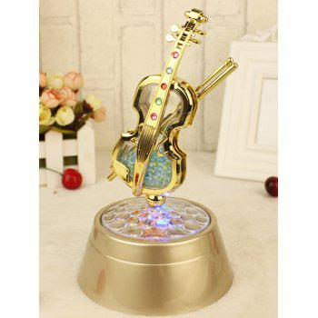 Rotating Violin Music Box Wedding Party Decor