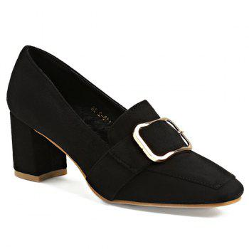 Belt Buckle Square Toe Pumps