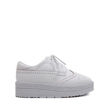 Wingtip Tie Up Platform Shoes