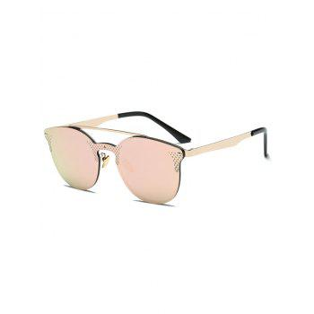 Rhombus Pattern Mirrored Butterfly Cat Eye Sunglasses