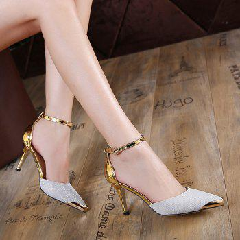 Two Piece Metallic Color Pumps
