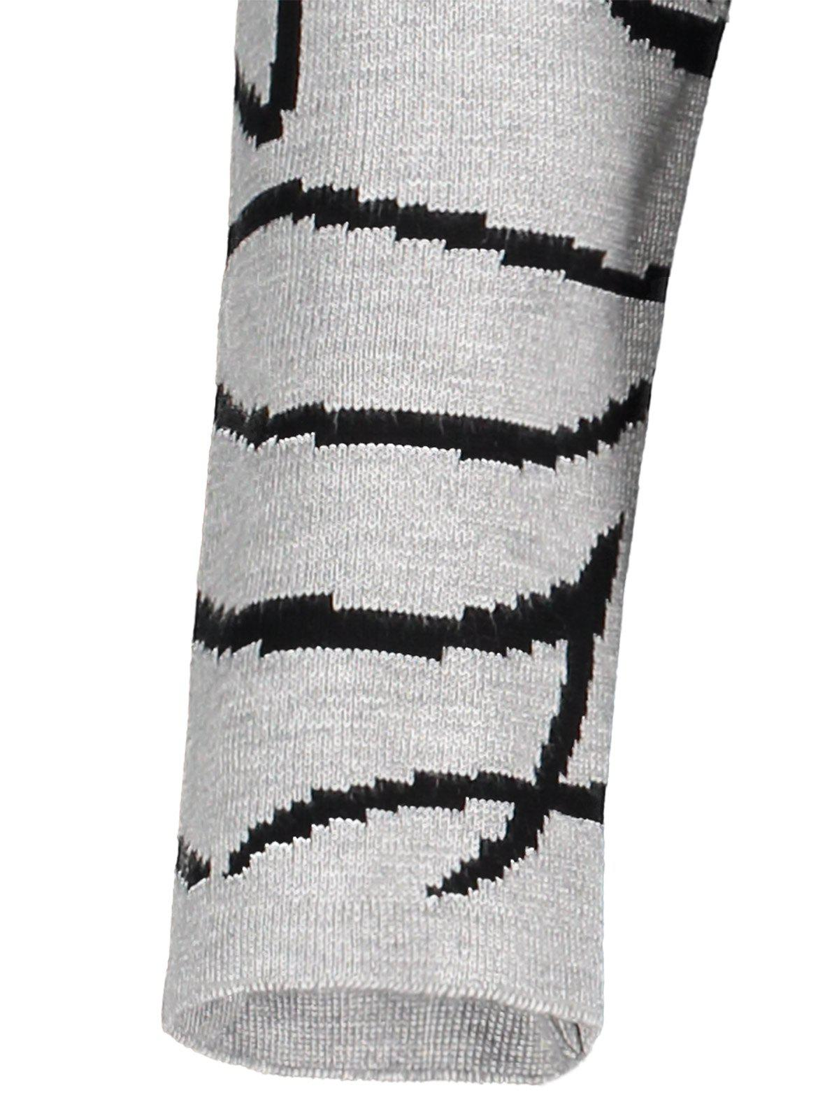 Mini manches longues Graphic Robe en maille - gris ONE SIZE