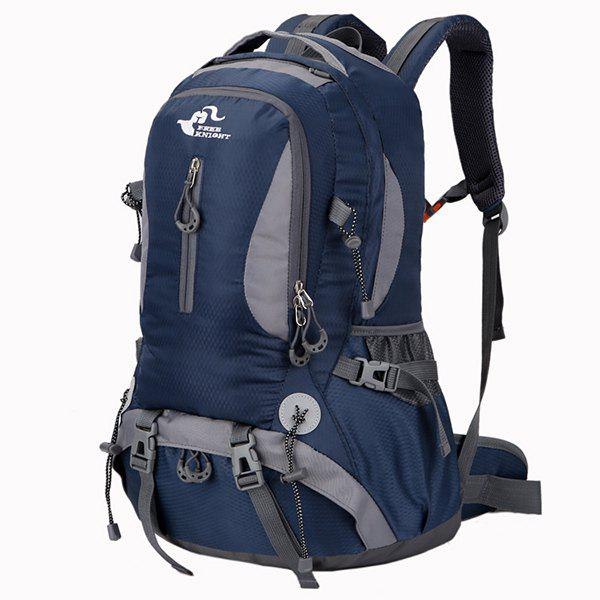 Waterproof Nylon 40L Mountaineering Backpack - DEEP BLUE