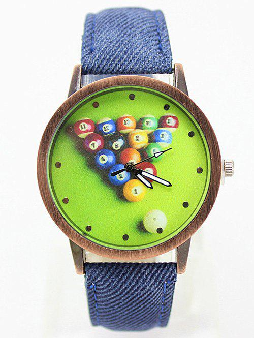 Table Tennis Printed Faux Leather Watch, Blue