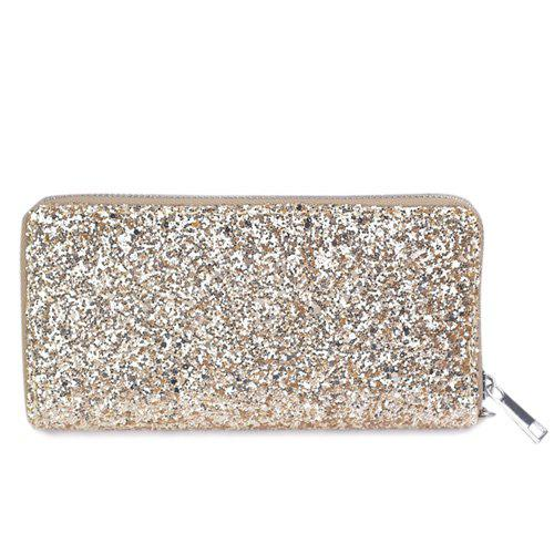 Zip Around Wallet Paillettes - Or