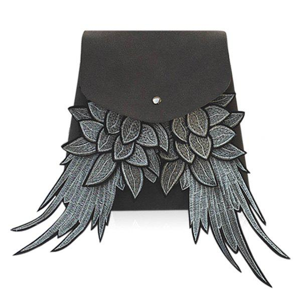 Winged Suede Backpackack - GRAY