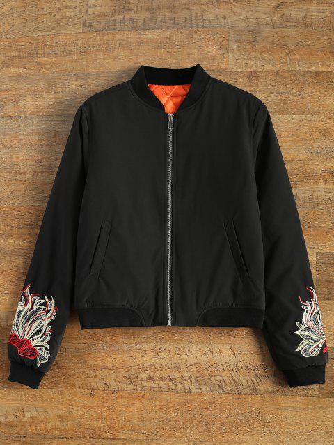 5ced7d14ff Embroidered Lined Quilted Bomber Jacket
