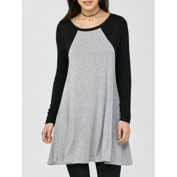 Raglan Sleeves Longline T-Shirt