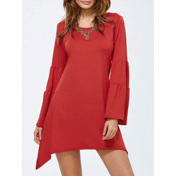 Flare Sleeve Short Dress