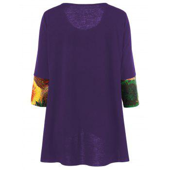 Tie-Dye Plus Size T-Shirt - PURPLE 3XL