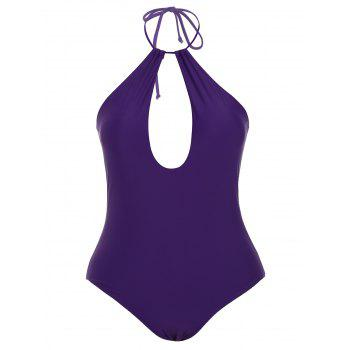 Padded High Neck Keyhole Swimwear