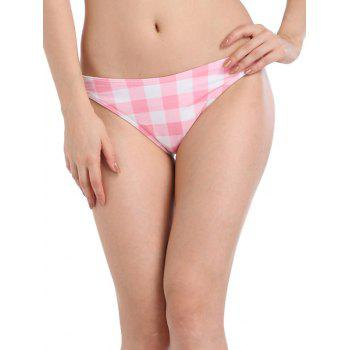 Plaid Low Waist Bikini Bottom