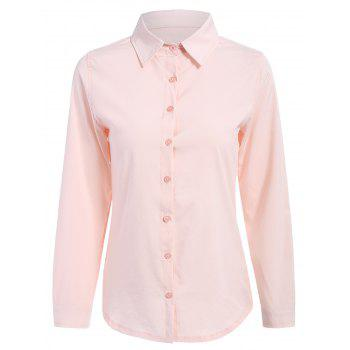 Formal Button Up Long Sleeve Work Shirt