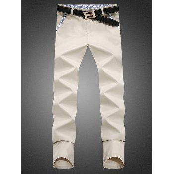 Zip Fly Straight Paisley Print Chino Pants