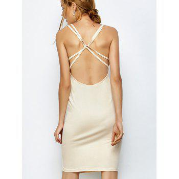 Strappy Backless Midi Bodycon Dress