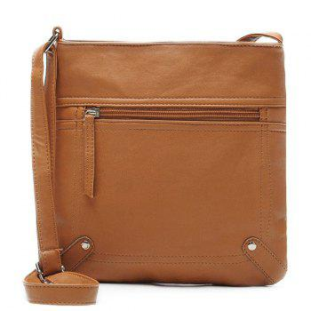 Fake Leather Crossbody Bag