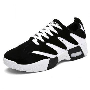 Suede Color Block Sneakers