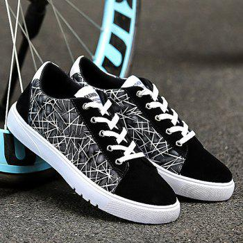 Lace Up Color Block Casual Shoes