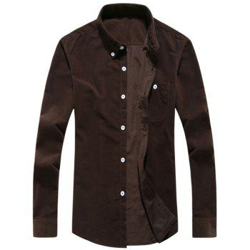Corduroy Chest Pocket Button Down Shirt