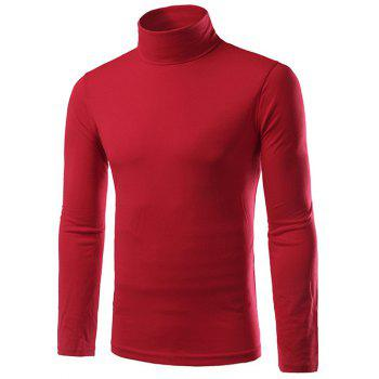 Col roulé à manches Plaine Slim Fit long T-shirt