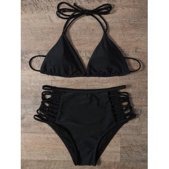 High Waist Strappy Bikini Set