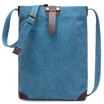 Unisex Canvas Crossbody Bag - BLUE BLUE