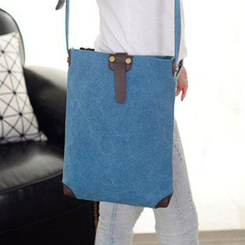 Unisex Canvas Crossbody Bag -  BLUE