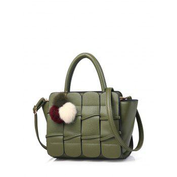 Winged Patches Pompon Detail Handbag