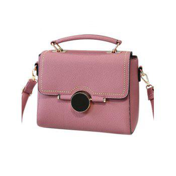 Rivet Flapped Textured Handbag