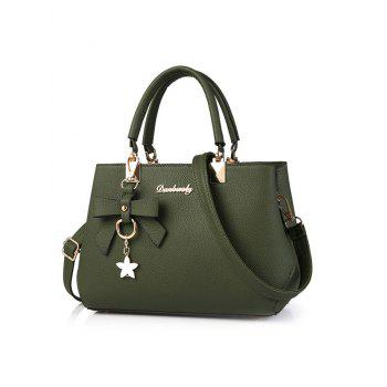 Bowknot Faux Leather Handbag