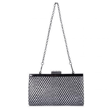 Geometric Rhinestone Pattern Evening Bag