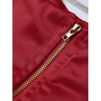 Cami Bud Design Cropped Tank Top - ROSE MADDER M