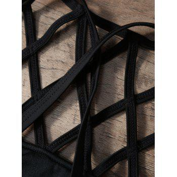 Strappy Cut Out Bikini Set - BLACK M