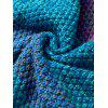 Winter Thicken Longer Color Block Design Knitted Wrap Kids Mermaid Tail Blanket - BLUE/ORANGE