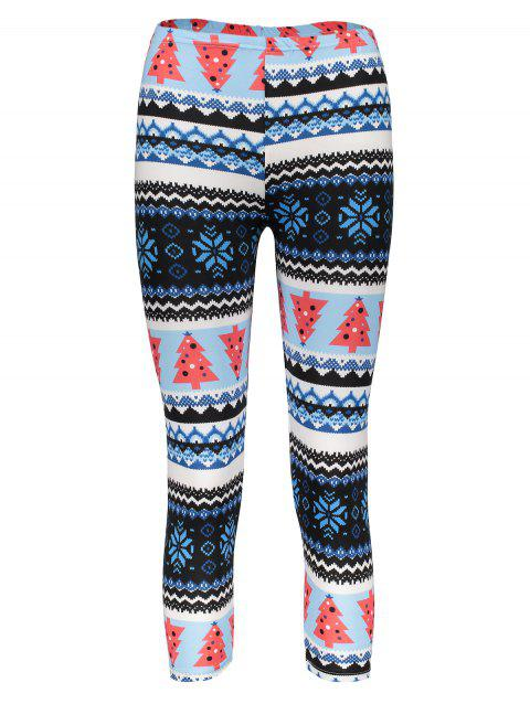 Trendy High Waist Geometrical Print Leggings Christmas For Women - COLORMIX ONE SIZE(FIT SIZE XS TO M)