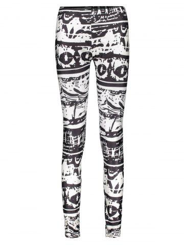 7f04a869a Trendy Abstract Printed Bodycon Leggings For Women