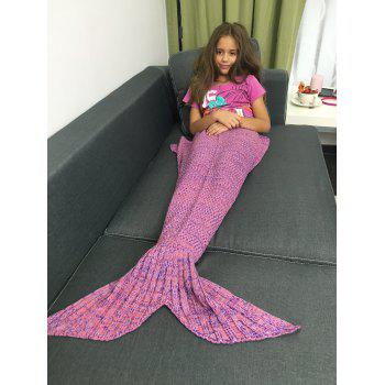 High Quality Yarn Knitted Sleeping Bags Mermaid Tail Shape Blanket