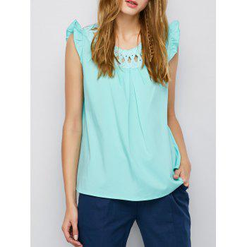 Criss Cross Flounced Tank Top